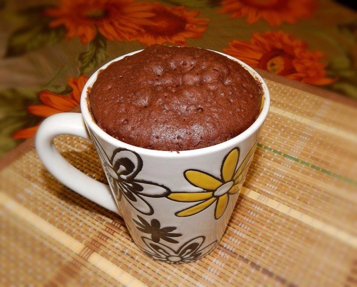 Шоколадные маффины в микроволновке рецепт пошагово