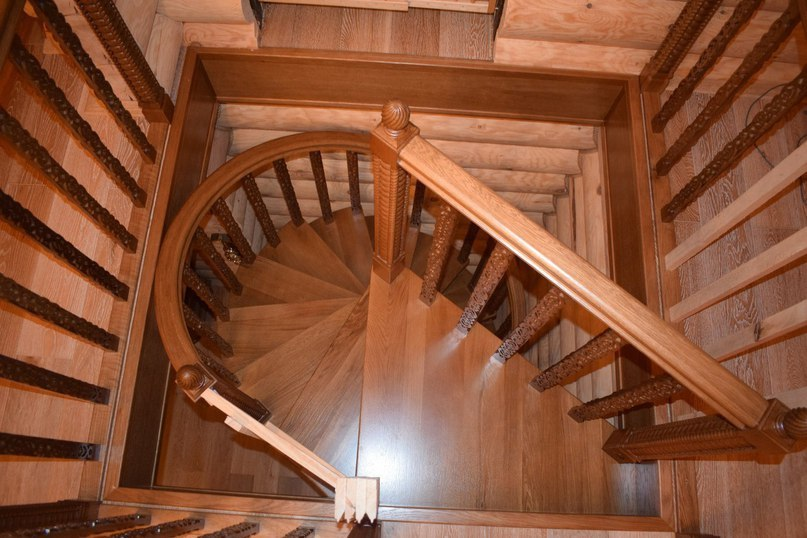 Деревянные резные винтовые лестницы своими руками 460