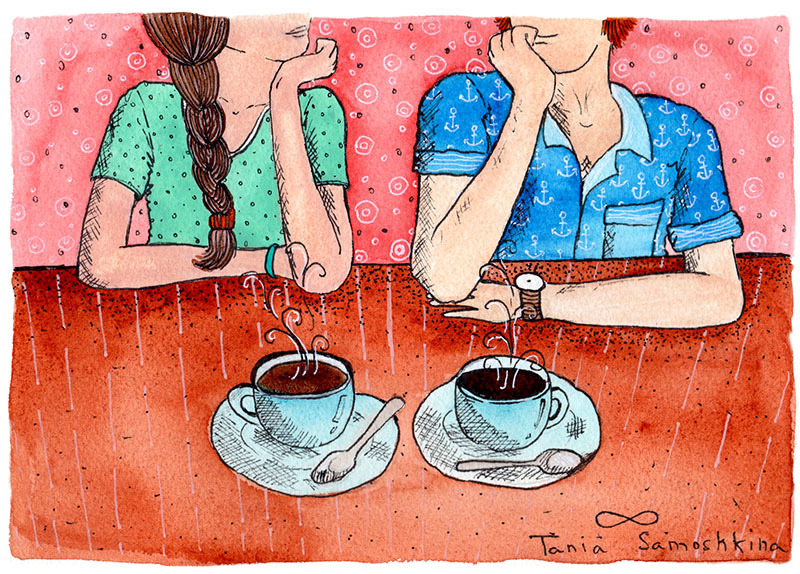Утро двое рисунки
